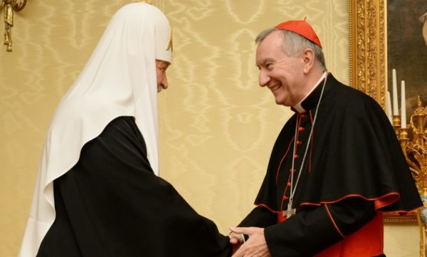 Patriarch Kirill receives card. Parolin in Moscow © mospat.ru