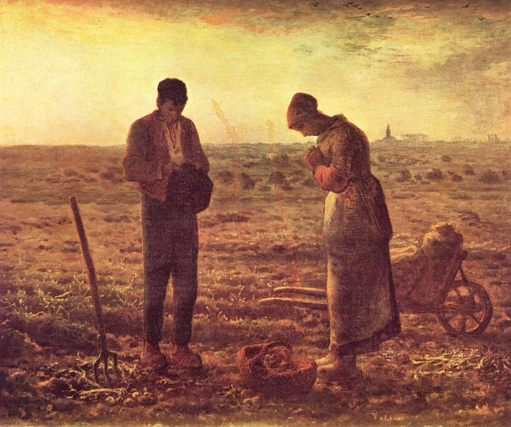 Jean François Millet, Thje Angelus, Orsay Museum (France) - wikimedia commons