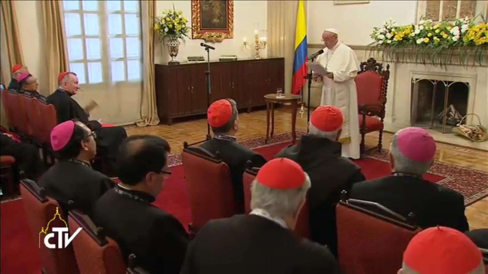 Pope Francis & CELAM, Bogota (Colombia), 07/09/2017, CTV