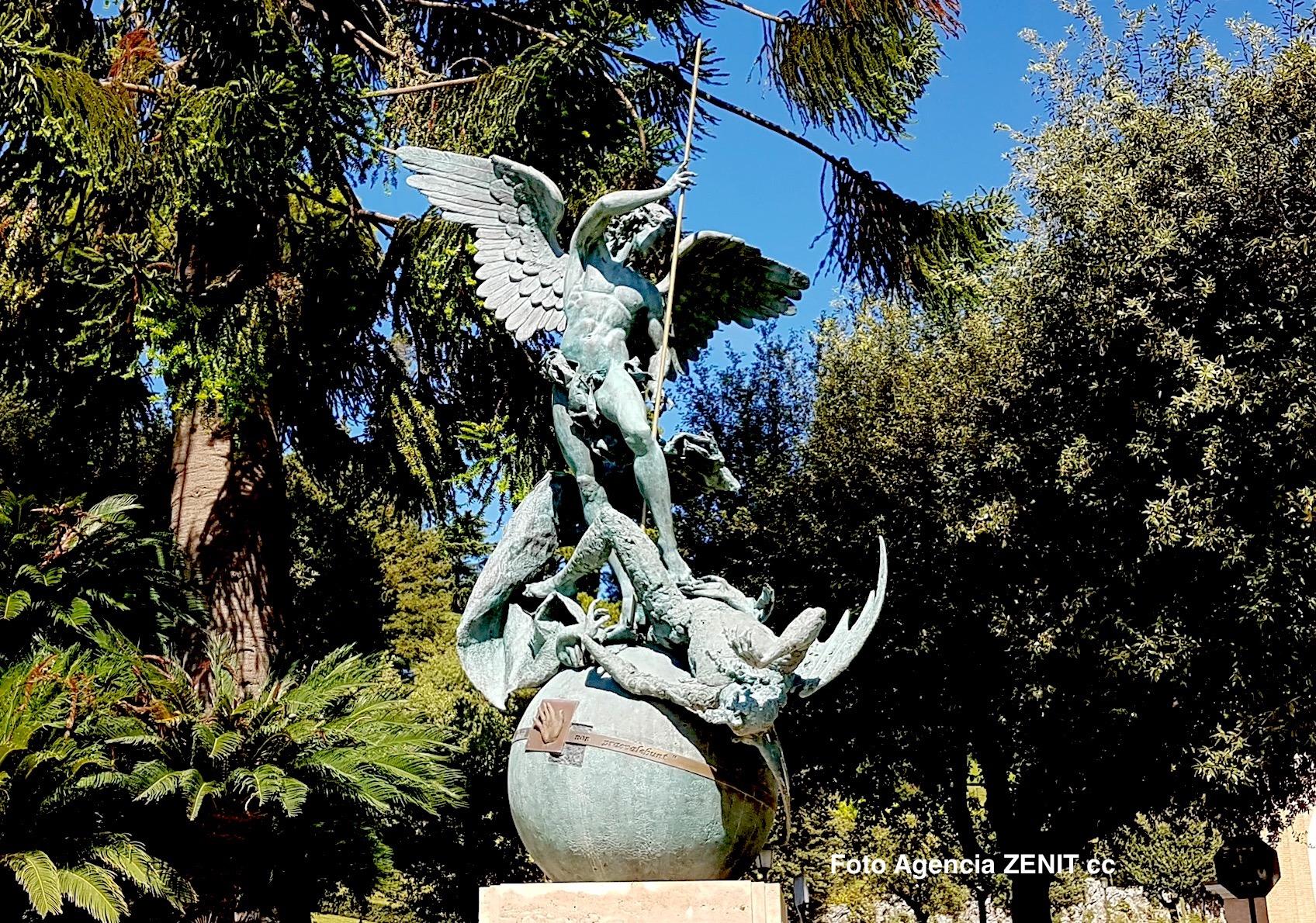 Statue of Archangel Michael in Vatican Gardens