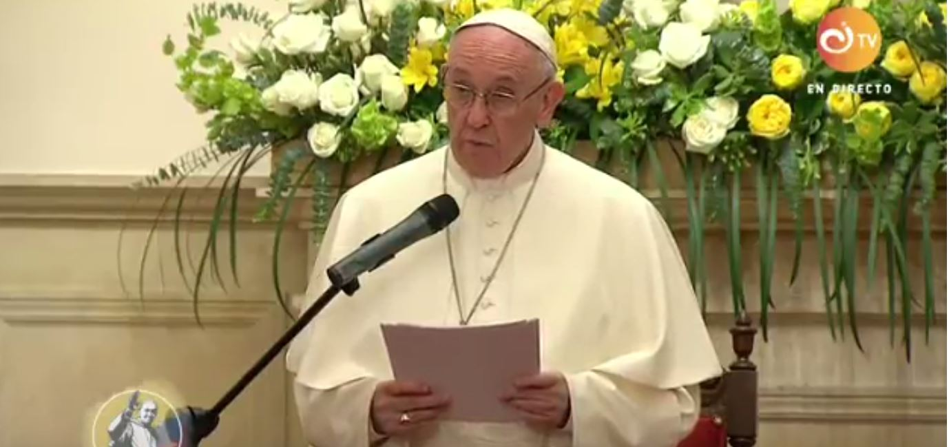 Pope Francis speaks to CELAM