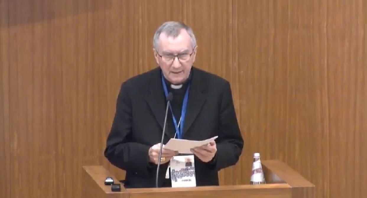 Cardinal Paroline at Child Dignity in Digital World -- screenshot from live broadcast