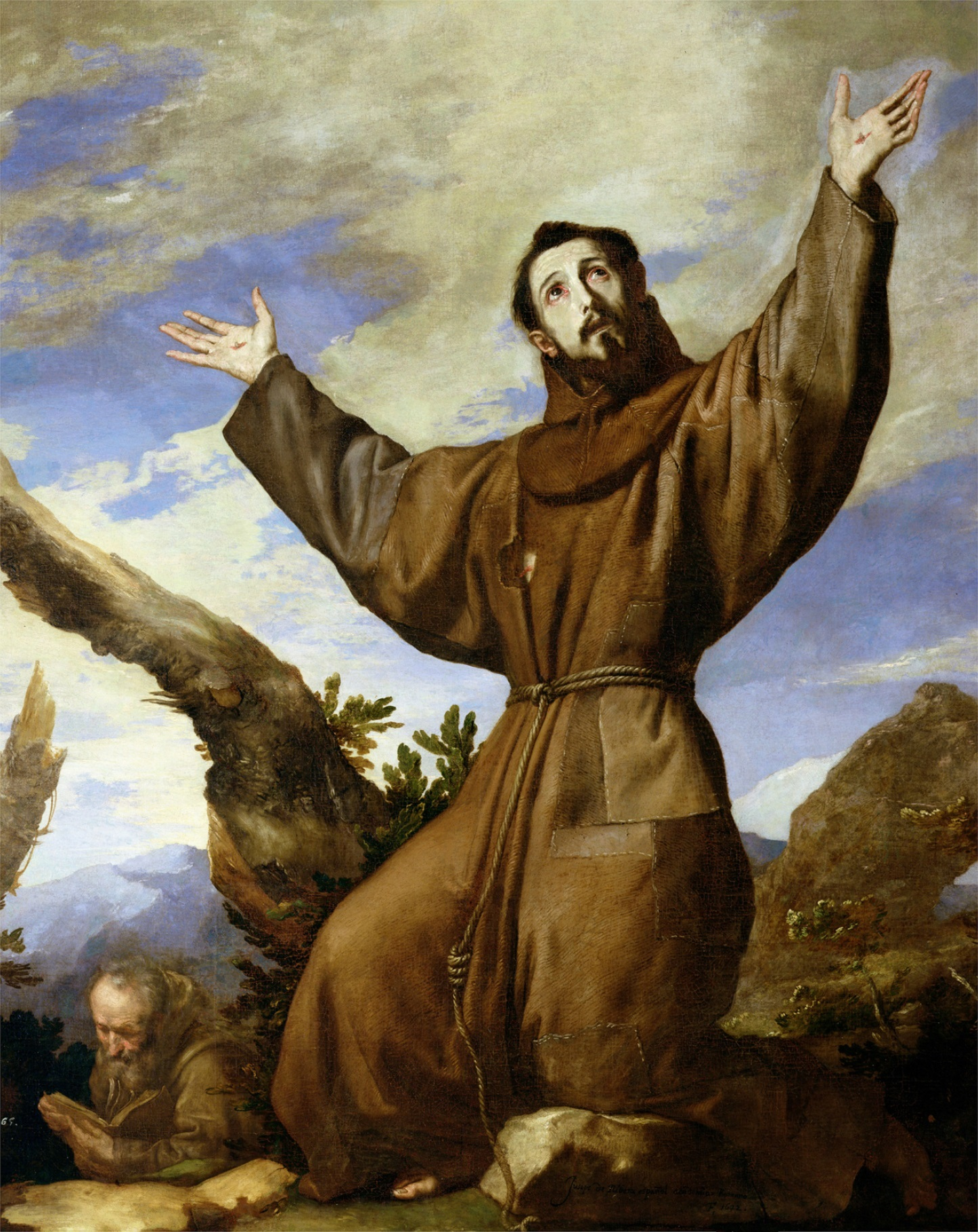 Saint Francis of Assisi by Jusepe de Ribera. Wikimedia Commons