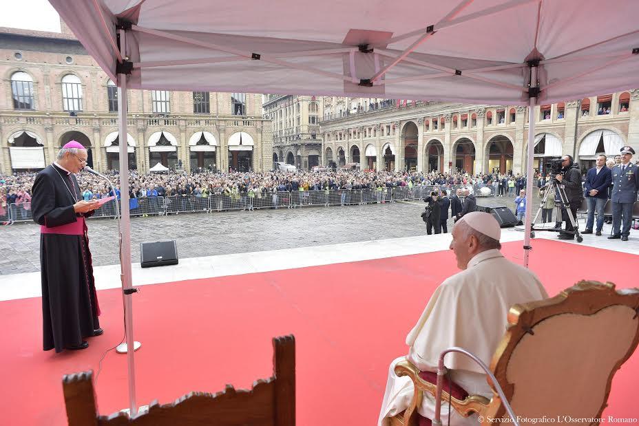Bologna 10/01/2017 Archbishop Zuppi Address © L'Osservatore Romano