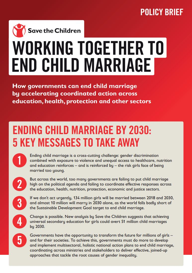 Save the Children: Crisis of Child Marriage Analyzed - ZENIT - English