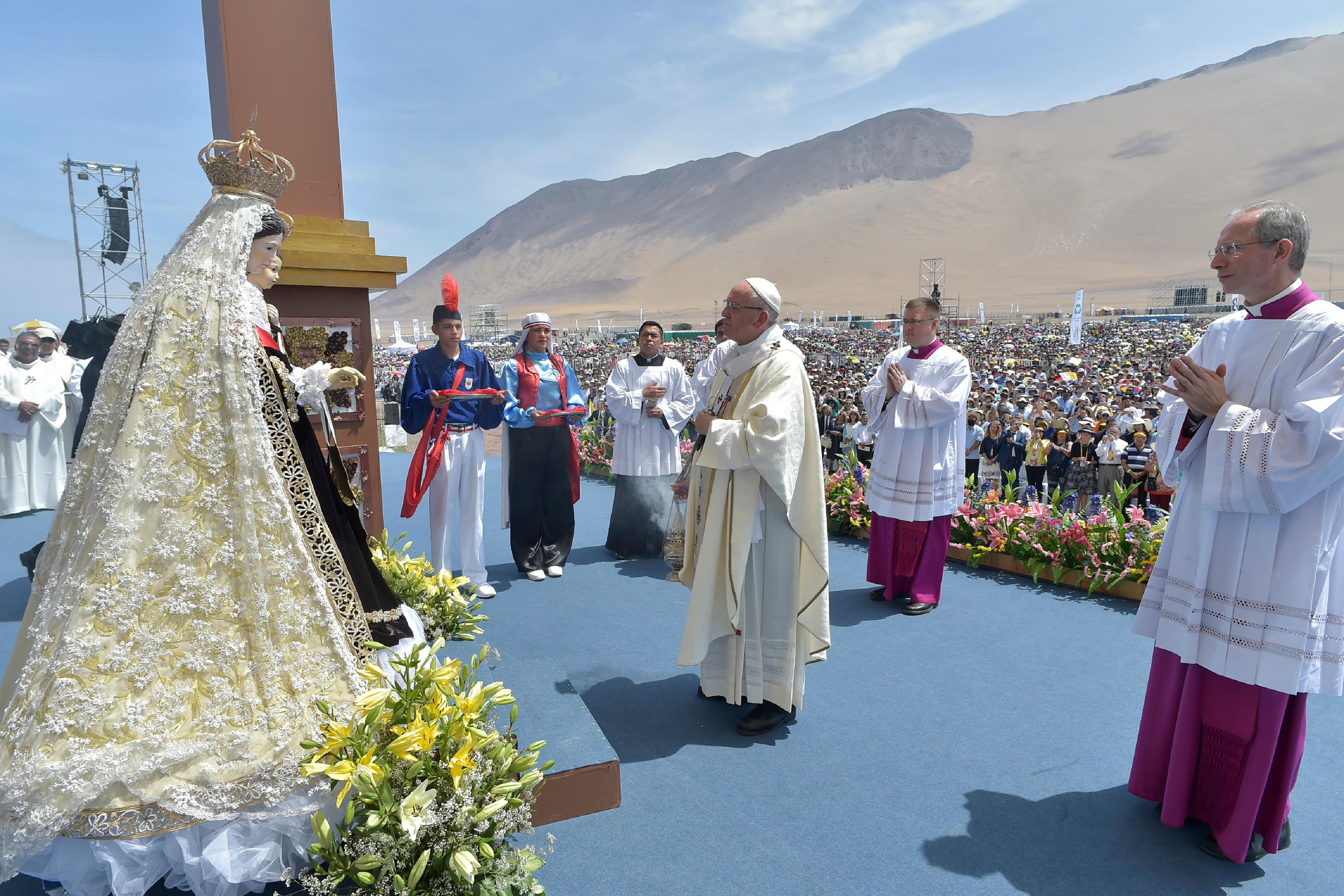 Pope Francis' Promise to the Virgin of Carmen
